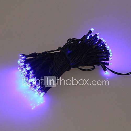 60 bleu ext rieur led solaire guirlande lumineuse de for Guirlandes lumineuses exterieures solaires