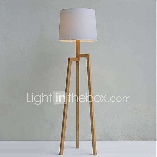 holz stativ stehlampe mit stoffschirm 1435547 2016. Black Bedroom Furniture Sets. Home Design Ideas