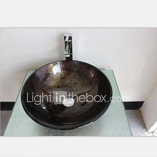 autique runde geh rtetes waschbecken aus glas mit. Black Bedroom Furniture Sets. Home Design Ideas