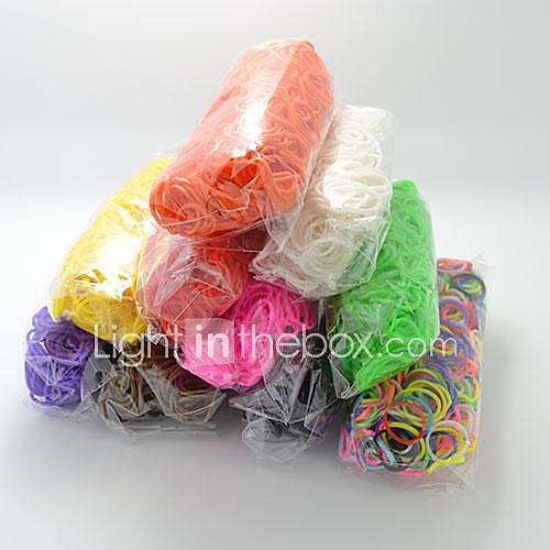 bandas de goma de silicona bandz twistz DIY pulseras de color arco iris del estilo telar para los niños con 600pcs bandas y 24 s-clips Descuento en Lightinthebox