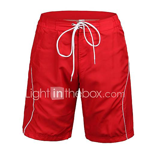 homens-polyester-red-surf-beach-curto