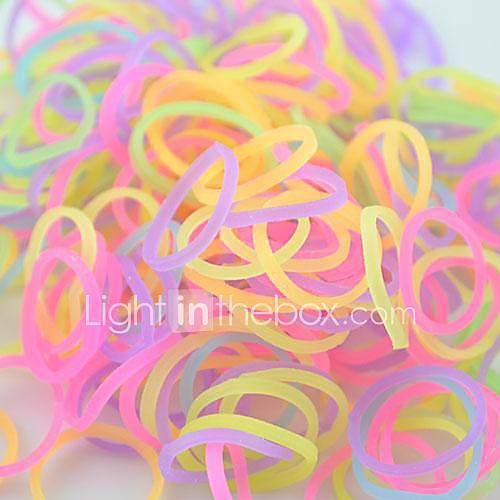 Bandes DIY Twistz Glitter Powder silicone Bandz Bracelets Caoutchouc fluorescence arc Loom pour les enfants avec 600pcs bandes et 24 S-clips