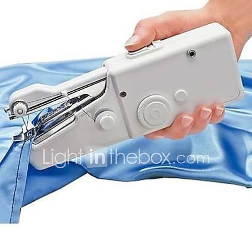nuevo hogar portable práctico puntada minicentral eléctrica máquina de coser de mano Descuento en Lightinthebox