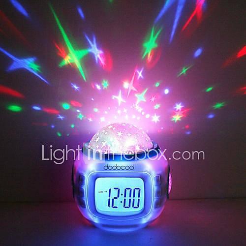 Estrellado del termómetro del calendario del reloj de alarma de proyección Descuento en Lightinthebox