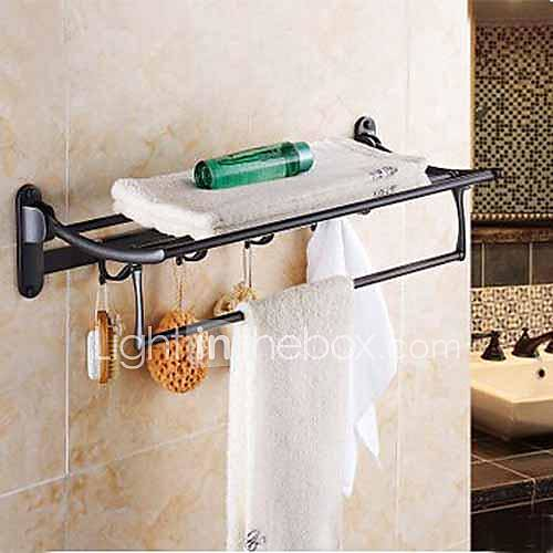 Oil Rubbed Bronze Bathroom Shelf With Towel Bar 1485677 2017