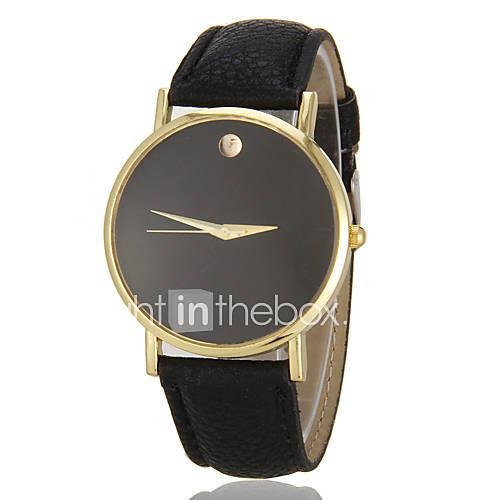 Mujer Reloj de Moda Cuarzo PU Banda Negro / Blanco / Marrón Marca- Descuento en Lightinthebox