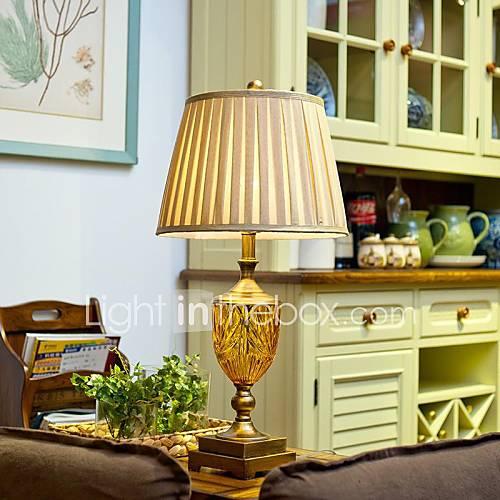 Cristallo Vintage Lampada da tavolo, una luce, cristallo, acciaio placcato e ...