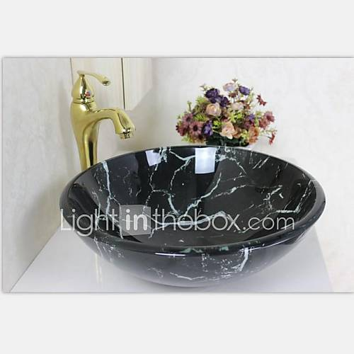 schwarzer marmor farbe runde geh rtetes waschbecken aus. Black Bedroom Furniture Sets. Home Design Ideas