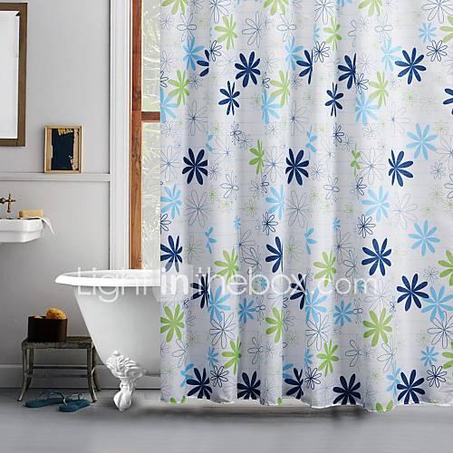bright flower pattern polyester shower curtain 1610471 2017