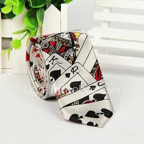 Motif Poker mode d'impression cravate de loisirs d'hommes
