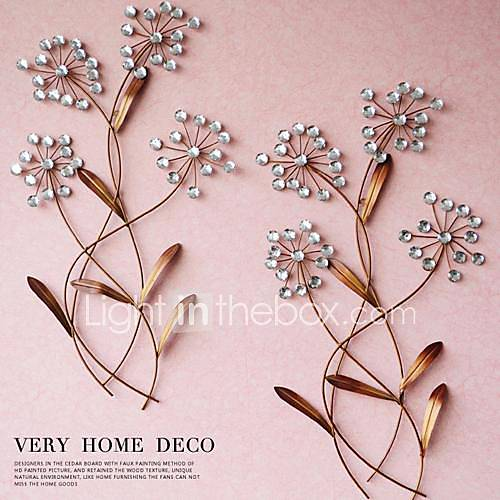 Wall Decor With Crystals : Metal wall art decor the flower of crystal