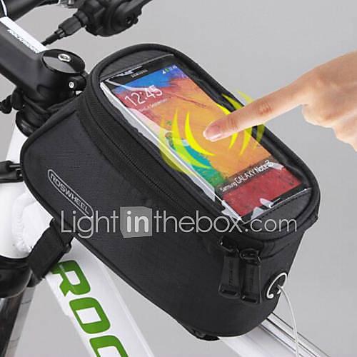 ROSWHEEL Bolsa para Bicicleta 1.5LBolso del teléfono celular Bolsa para Cuadro de Bici Impermeable Pantalla táctil Bolsa para Bicicleta Lightinthebox