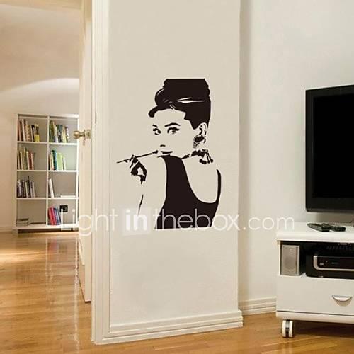 Jiubai audrey hepburn wall sticker wall decal 1688587 - Tavole adesive 3d per pareti ...