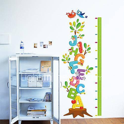 Createforlife  Arbre de lettres d'alphabet Toise enfants autocollant de pièce de crèche mur Wall Art Stickers