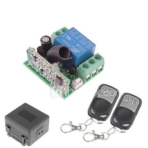 12V 1-canal inalámbrico Módulo de relé de energía a distancia con control remoto doble (DC28V-AC250V) Descuento en Lightinthebox