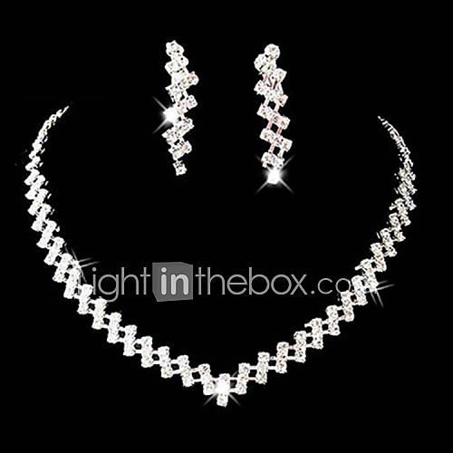 Conjunto de joyas De mujeres Aniversario / Boda / Pedida / Cumpleaños / Regalo / Fiesta / Ocasión especial Sets de Joya AleaciónDiamantes Lightinthebox