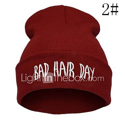 Unisex's Hiphop Bad Hair Day Beanie Hat 1564653 2016