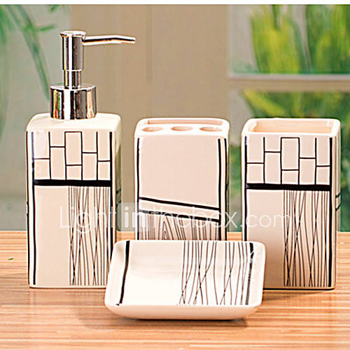 Accesorios para el ba o set 4 pieza rectangular de for Ceramicas para banos