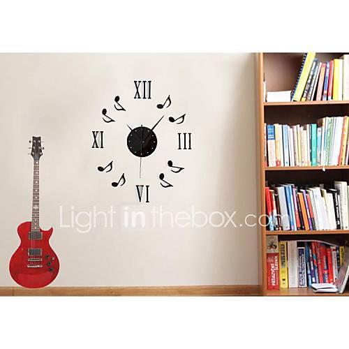 Danse musique combinaison de note de musique diy horloge for Decoration murale note de musique