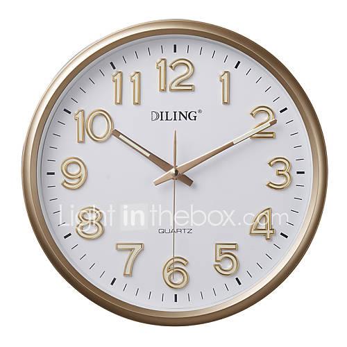 12 modernos n meros ar bigos redondo reloj de pared del for Relojes de pared modernos