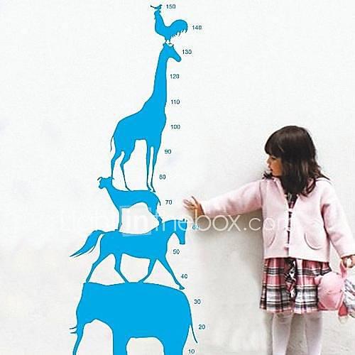 Createforlife  Animal de bande dessinée Pyramide Toise enfants autocollant de pièce de crèche mur Wall Art Stickers