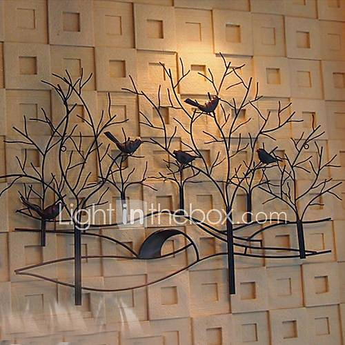Metal Wall Art Wall Decor Birds And Fragrant Flowers Wall