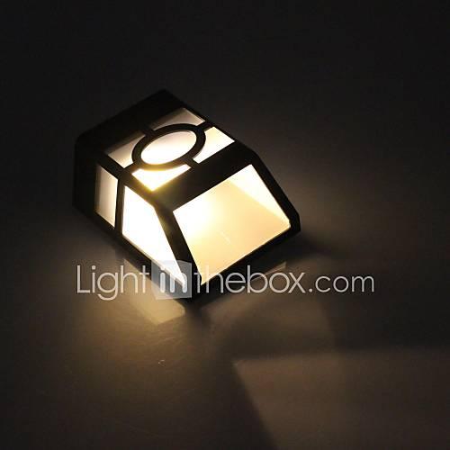 2 led warm white outdoor led solar light wall light. Black Bedroom Furniture Sets. Home Design Ideas