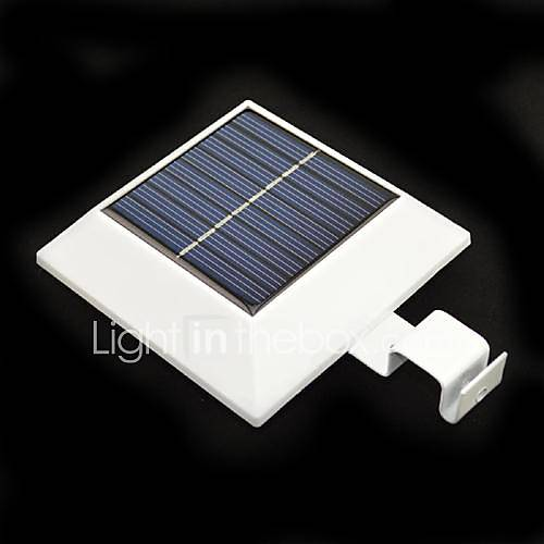 4 led solar powered fence gutter light yard garden wall for Lumiere solaire interieur
