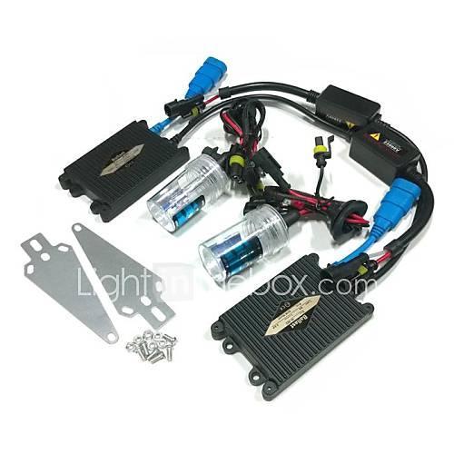 24V 55W H7 6000K HID Xenon Lamp Conversion Kit Set With Mounting Bracket (Black Slim Ballast)