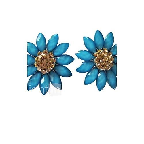 De femmes européennes et cristal de mode American Classic clip oreille boucles d'oreille de cuivre Ornements