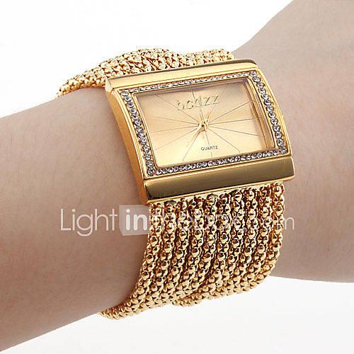 Mujer Reloj de Moda Cuarzo Aleación Banda Destello Dorado Marca- Descuento en Lightinthebox