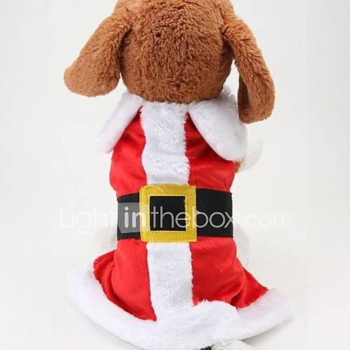 Casacos - Inverno - Vermelho - Fantasias - de Malha polar - para Cães - M / S / L