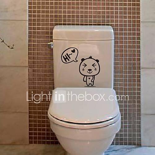 Cartone animato piccolo orso wc sticker postato del