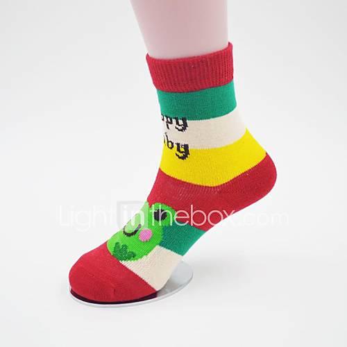 motifs de bande dessinée chaussettes fille (couleur aléatoire)