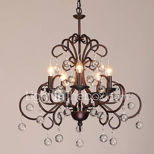 Max 40w chandelier traditional classic painting feature for candle style metal living room - Popular chandelier styles ...