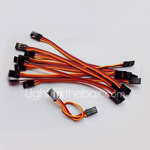 palme rouge orangé 26AWG jr mâle et mâle fil d'extension droite servo plomb l = 300mm (20pcs / sac)