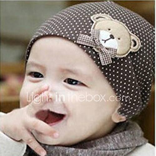 bébé ours dimensions motif de points fond fixe confort capuchon de couverture