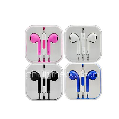 prise de icue3.5mm écouteurs intra-auriculaires w / mic& contrôle du volume pour l'iphone 6 iphone 6 plus