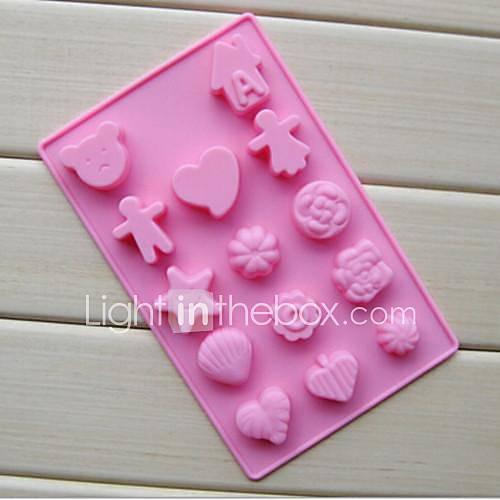 14 hoyos moldes de chocolate ni o y ni a forma pastel de - Moldes para gelatina ...