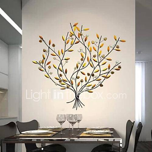 Metal wall art wall decor the harvest of fruit trees wall for Decor mural metal