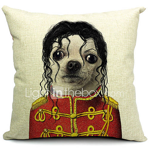 Decorative Pillow With Dog : Cartoon Lovely Dog Cotton/Linen Decorative Pillow Cover 1738035 2016 ? $7.99
