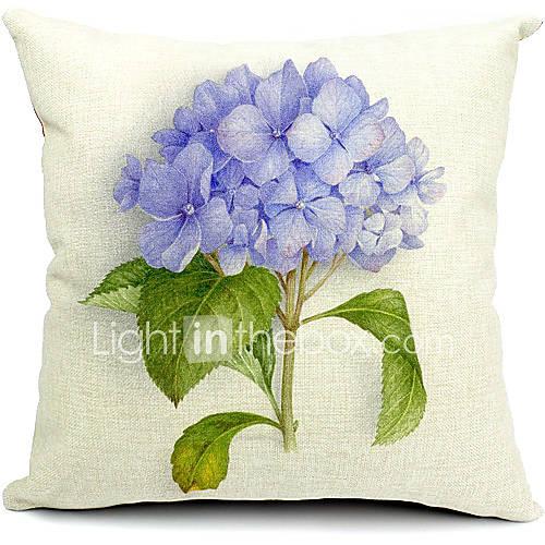Country Light Purple Flower Cotton/Linen Decorative Pillow Cover 1723593 2016 ? $11.69