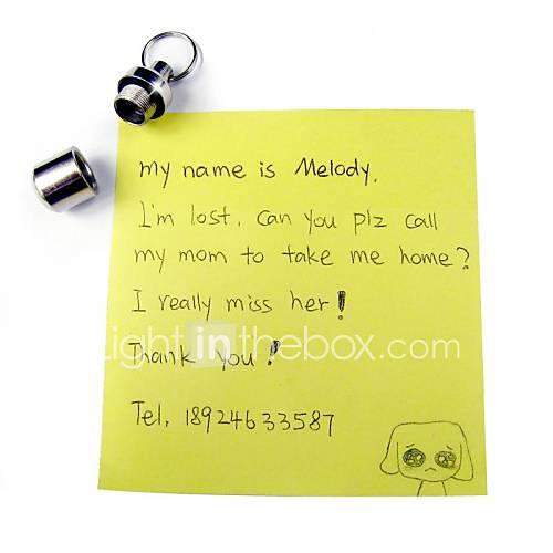 jolie bouteille forme étiquette avec des informations privilégiées se accessoire perdu pour les colliers pour animaux chiens