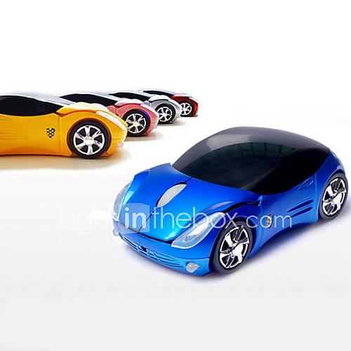 2.4GHz Wireless souris optique modèle de super voiture (couleurs assorties)