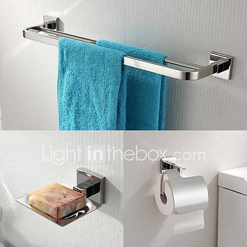 Accesorios De Baño En Acero Inoxidable:304 de acero inoxidable de 3 piezas, accesorios de baño Juego de