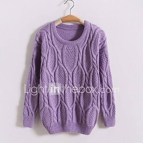women-loose-round-collar-pullover-knitwear