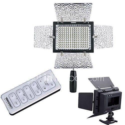 Yongnuo YN-160ii 160 LED Lumière vidéo lumière de studio avec micro à condensateur  luminance télécommande