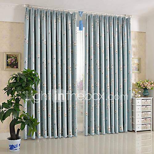 anti two panels pastoral small white flowers room darkening curtains drapes 1846397 2016. Black Bedroom Furniture Sets. Home Design Ideas