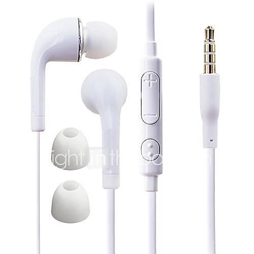 df blanco placa azul 3.5mm In-Ear auriculares con control de línea para Samsung S4 / S5 todos los teléfonos Andriod Descuento en Lightinthebox