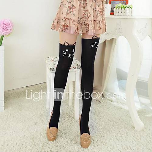 gatos costura rodilla pantyhose de las mujeres Descuento en Lightinthebox